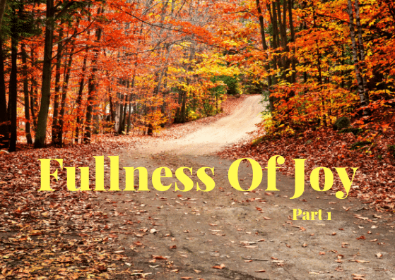 Fullness Of Joy -Part 1
